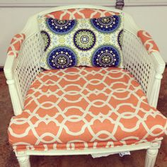 Reupholstered Cane Chair I Just Finished Today!