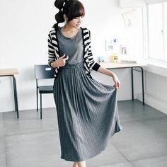 * pleated dress