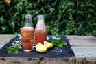 Watermelon, mint and lemon cooler spiked with honey. Photo / Eleanor Ozich.
