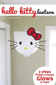 How to make a Hello Kitty Lantern (with a free bow printable)