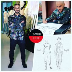 #ITLODay 2 of Esmod Dubai Fashion Design Workshop short course student Omar N. in a @roberto_cavalli patterned shirt @diesel jeans and @versace_official shoes. Today Omar is learning how to draw different faces and hairstyles to help him on his journey of becoming a fashion designer. - Like Omar join one of our short courses in Fashion Design to get started. The next sessions start 19 April. Visitesmod-dubai.com. Call Carolina on 97144291228 to register. - #saudigazette #velvetmagazine…