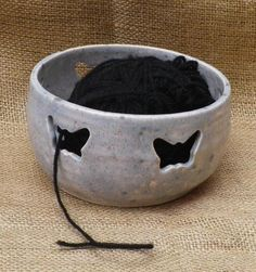 FOUND ONE!! @Stewart Scott Kember  Yarn bowl knitting or crochet wool hand thrown pottery ceramic