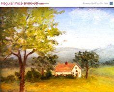 Vintage Painting #Artwork http://theidconnection.etsy.com World Wide Shipping available http://rolanddressler.blogspot.com   #Art rolanddressler@gmail.com  Etsy listing at https://www.etsy.com/listing/209746315/thanksgiving-sale-vintage-miniature