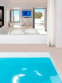 Grace Santorini Hotel Imerovigli Santorini, Santorini Hotels, Clean Bedroom, White Bedroom, Modern Bedroom, Master Bedroom, Greece Hotels, Greece Trip, Greece Vacation