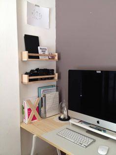 Le bureau presque parfait ! #bekvam #ikea #LERBERG