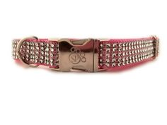 Dog Collar - Rose Bling Dog Collar - Adjustable dog collar -fancy dog collar - sparkly dog collar - Pink dog collar - girl dog collar  by sophisticatedpup on Etsy https://www.etsy.com/listing/224233037/dog-collar-rose-bling-dog-collar