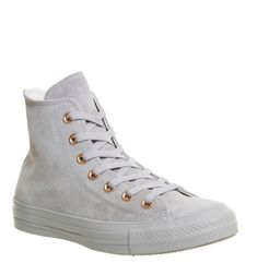 Buy Ash Grey Rose Gold Exclusive Converse All Star Hi Leather from ... 14bde495b