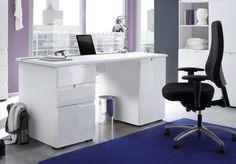 Marilyn White Gloss Computer Desk