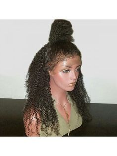 Long Free Part Bouffant Kinky Curly Lace Front Synthetic Wig