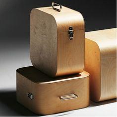 Harri Koskinen bentwood storage cubes.