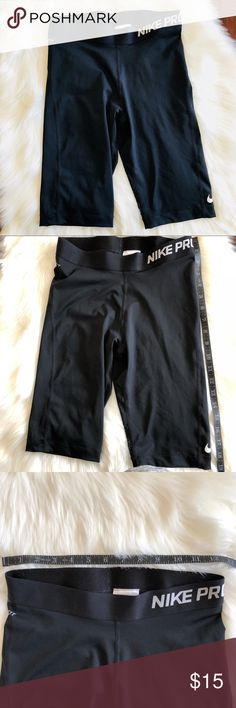 """Nike Pro Women's 8'' Shorts Black Cool Shorts No matter how much your body heats up and sweats during your workout, make sure to keep cool in these Pro 8"""" Cool Shorts from Nike. Side seams follow your natural shape for optimal movement. Innovative fabric helps keep you cool when the action heats up. 80% polyester/20% spandex. Nike Shorts"""