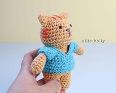 Ravelry: Nurse Cat Amigurumi pattern by Abby Sy Nurse Cat, Crochet Dolls Free Patterns, Stuffed Animal Cat, Cat Amigurumi, Fabric Glue, Paintbox Yarn, Yarn Over, Stitch Markers, Slip Stitch