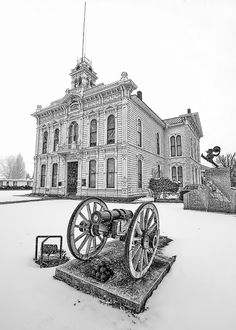 the old Mono County Courthouse located in Bridgeport, California