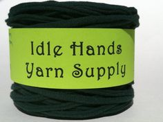 Dk Green Tarn Recycled T Shirt Yarn  7075 by IdleHandsYarnSupply, $8.08