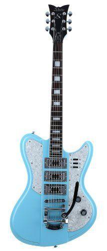 Schecter Electric Guitar - Ultra III, Vintage Blue by Schecter. Best Acoustic Guitar, Music Guitar, Guitar Amp, Cool Guitar, Playing Guitar, Blue Guitar, Guitar Room, Guitar Pins, Diy Electric Guitar