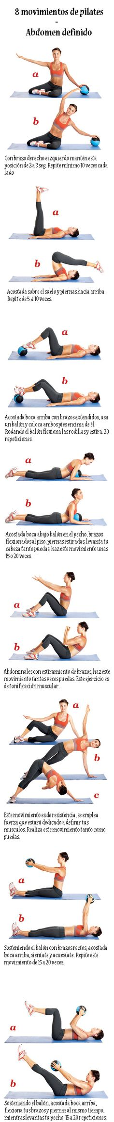 8 movimientos de pilates para un abdomen definido