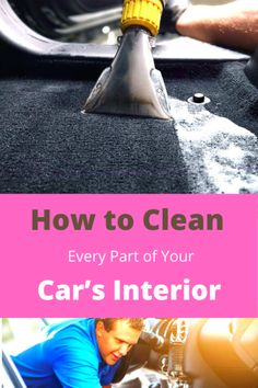 From the steering wheel to carpet and the best products to use, here's everything you need to know about how to clean your car's interior. Wash Car At Home, Clean Your Car, Car Cleaning, Exotic Cars, Carpet, Notes, Interior, Tips, Products