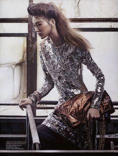 Sora Choi wears Gucci, Lanvin, Tom Ford and Allsaints … Hyea W. Kang (photo) … Lustre for Life, Vogue Korea, May 2014 … Marie Claire, Sora Choi, Vogue Korea, Fetish Fashion, Korean Model, Mesh Dress, Asian Style, Tom Ford, Editorial Fashion