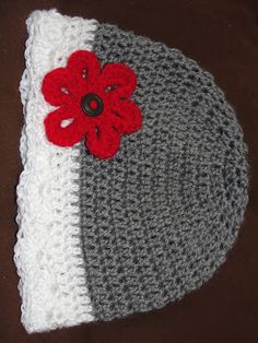 libertycrochet: the girly beanie- size down for baby