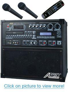 Audio2000'S AKJ780E Portable Karaoke System #Audio2000S #AKJ780E #Portable #Karaoke #System