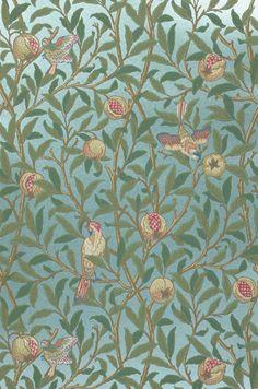 Jakobine | Papel de parede floral | Padrões de papel de parede | Papel de parede dos anos 70