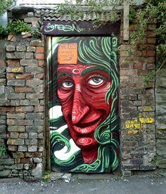 STREET ART UTOPIA » We declare the world as our canvasGraffiti by Uri Green in Barcelona, Spain 1 » STREET ART UTOPIA
