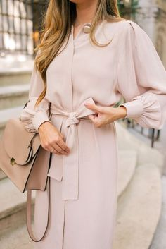 fall outfit ideas / pastel pink