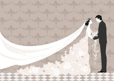 Romantic Wedding elements Backgrounds vector 05