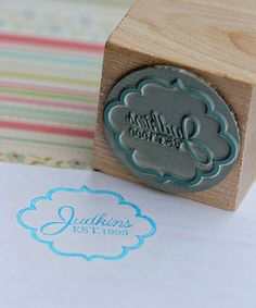 Take a look at this 'Est.' Personalized Stamp by Expect Personality on #zulily today!