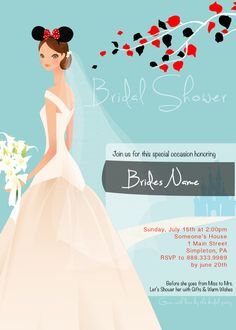 I must have a Disney bridal shower.. Hint hint future bridesmaids and my sister of honor (aka MOH)