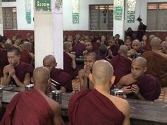 Meal time at the monastery