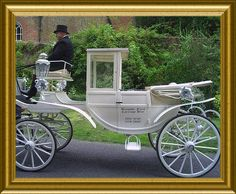 Carriages for marriages, white