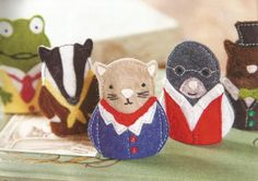 Woodland animals felt finger puppets