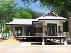Modern House Plans and Modern House Designs - Decor Units Modern House Plans and Modern House Design Stilt House Plans, House On Stilts, Modern House Plans, Small House Design, Modern House Design, Elevated House Plans, House Plans Australia, Beautiful Modern Homes, Build Your House
