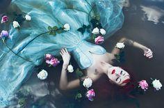 Karolina Ryvolova photography. Terezia Mia, amazing burlesque performer modelling for an Ophelia photo
