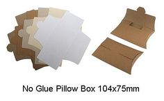 clear pillow box with label - Google Search