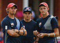 Brady Ellison, Jake Kaminski and Jacob Wukie - USA's first medal of the 2012 Olympics (Archery, silver).
