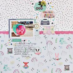 The Gossamer Blue March Kits are a ton of alpha stickers, perfect for longer titles or adding in tons of little details. This layout uses . Gossamer Blue, Babysitting, Sprinkles, Layouts, Scrapbook, Mom, Crafts, Ideas, Manualidades