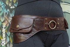 """Leather Utility Hip Belt _""""WAVE.Brw""""_ High Quality Handmade Designer Pocket Belt Bag 4 Gypsy/Nomad/Urban Lifestyle [Festival.Travel.Concert]"""