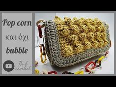 Popcorn και όχι Bubble / Th E crochet Jean Purses, Purses And Bags, Crochet Clutch Pattern, Corn Bags, Handmade Leather Wallet, Chanel, Denim Bag, Purse Patterns, Wedding Art