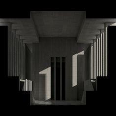 Porticus III rendering (2008) by Renato Nicolodi.   More at http://www.renatonicolodi.com/work.html