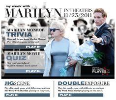 My Week With Marilyn Game Arcade on Facebook!