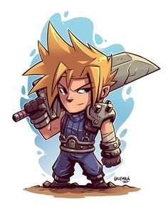 Cloud from Final Fantasy VII! You may have noticed I've been ramping up my store items lately. Instead of Patreon and other means, I'm trying just selling things directly to you guys to help support my art. I know people cringe a bit when an artist...