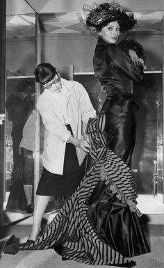 "Edith Head dressing Sophia Loren for ""Heller in Pink Tights"", 1960."