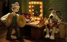 Wallace and Gromit: Wallace is composing music for the Proms 2012