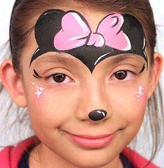 minnie mouse face paint | FP | Pinterest | Mouse face ...