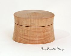 Wood Box -- Curly Maple. $95.00, via Etsy.
