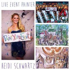 Paint Your Corporate Event with Live Painter Heidi Schwarz - http://thegrablegroup.com/artists/paint-your-corporate-event-live-painter-heidi-schwarz/