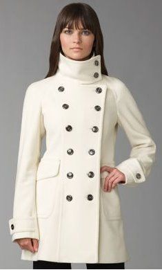 White winter coat This says Scandal Olivia Pope all over it