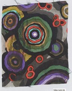 Textile Sample Manufacturer Wiener Werkstätte Designer: Designer Unknown Date: 1910–28 Medium: Silk Dimensions: H. 7-3/4, W. 6-1/4 inches